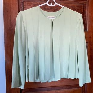 Vintage Chanel Pale Green Pleated Jacket